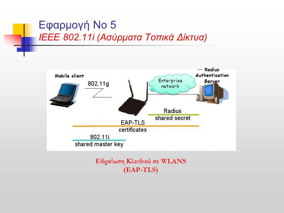 Εφαρμογή Νο 5 ΙΕΕΕ 802.11i (Ασύρματα Τοπικά Δίκτυα)