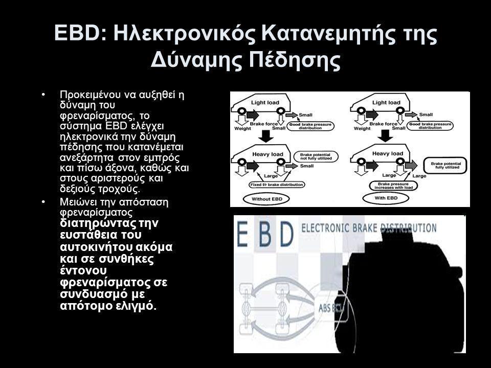 EBD: Ηλεκτρονικός Κατανεμητής της Δύναμης Πέδησης