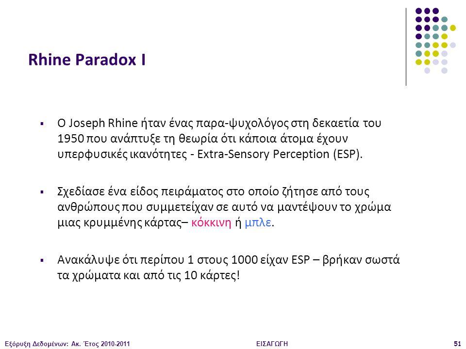 Rhine Paradox Ι