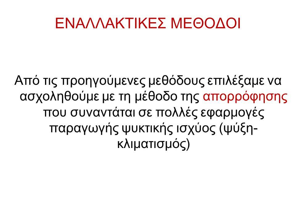 ΕΝΑΛΛΑΚΤΙΚΕΣ ΜΕΘΟΔΟΙ