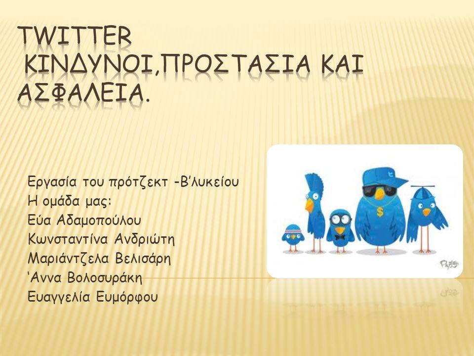 Twitter Κινδυνοι,προστασια και ασφαλεια.