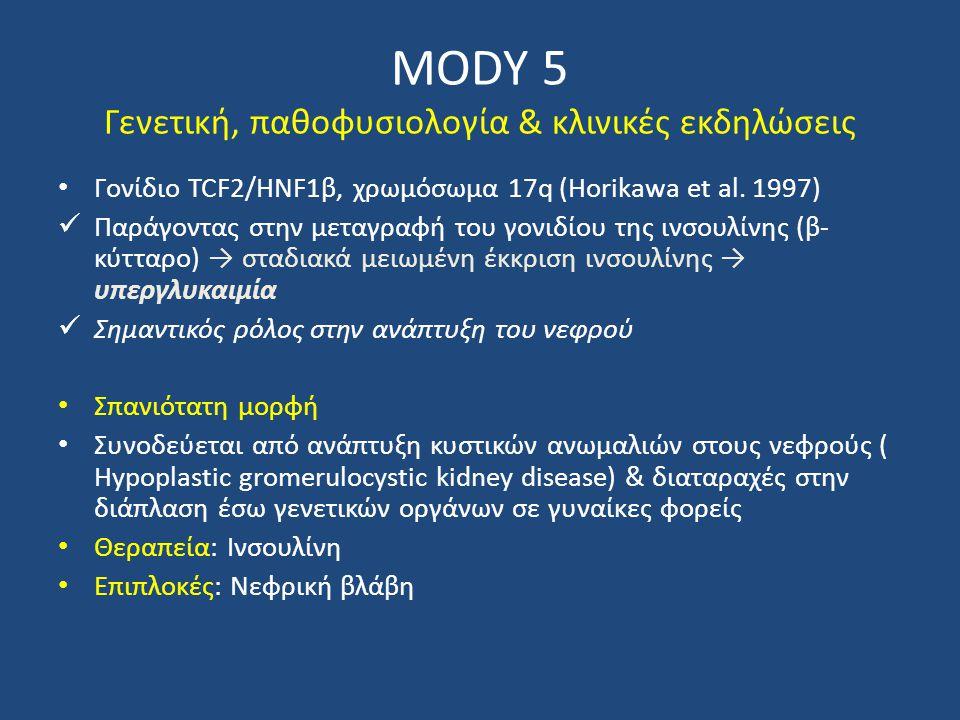 MODY 5 Γενετική, παθοφυσιολογία & κλινικές εκδηλώσεις