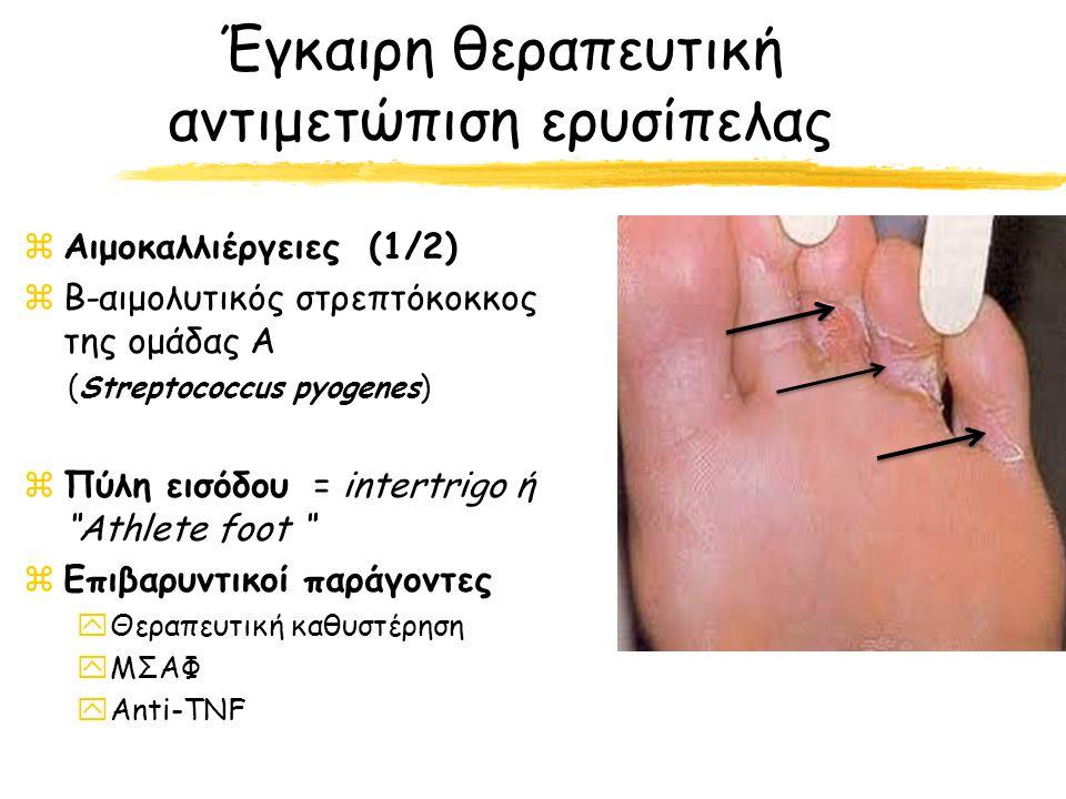 Έγκαιρη θεραπευτική αντιμετώπιση ερυσίπελας