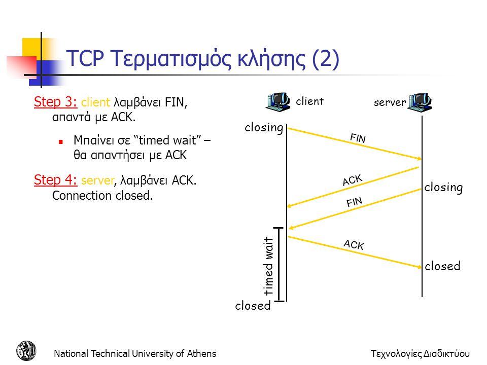 TCP Τερματισμός κλήσης (2)