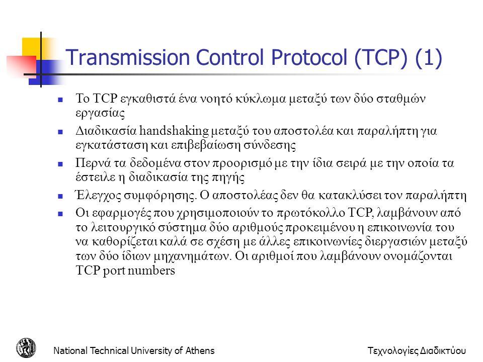 Transmission Control Protocol (TCP) (1)