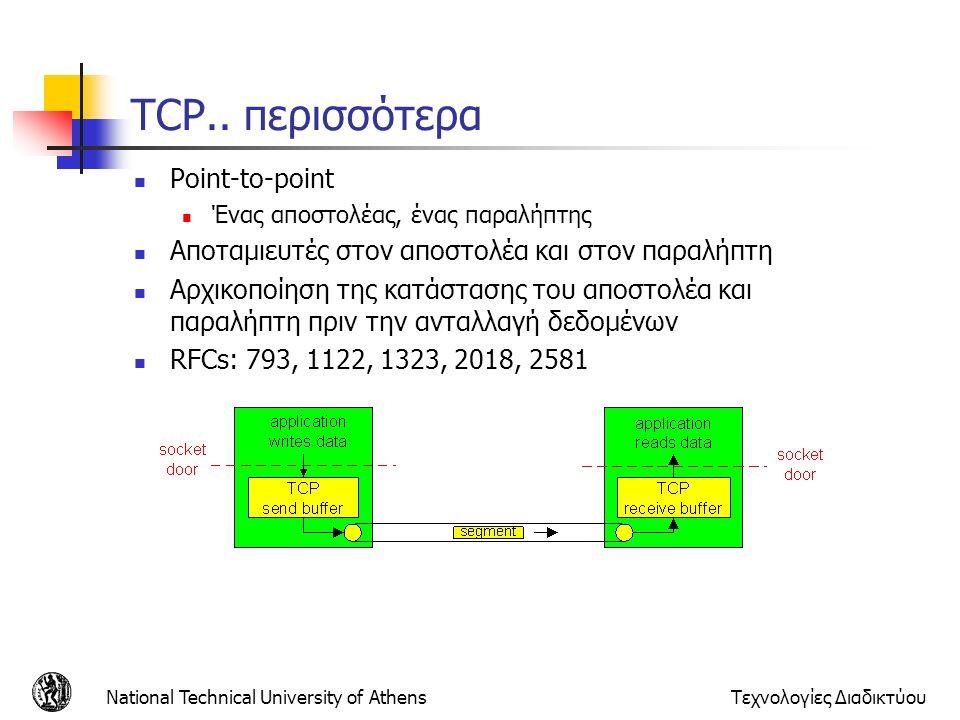 TCP.. περισσότερα Point-to-point