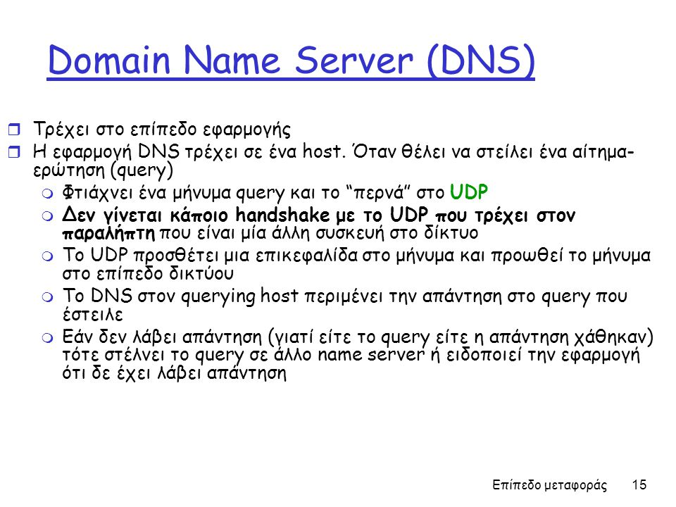 Domain Name Server (DNS)