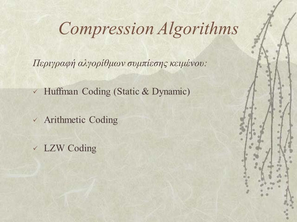 Compression Algorithms