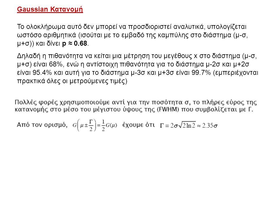 Gaussian Κατανομή