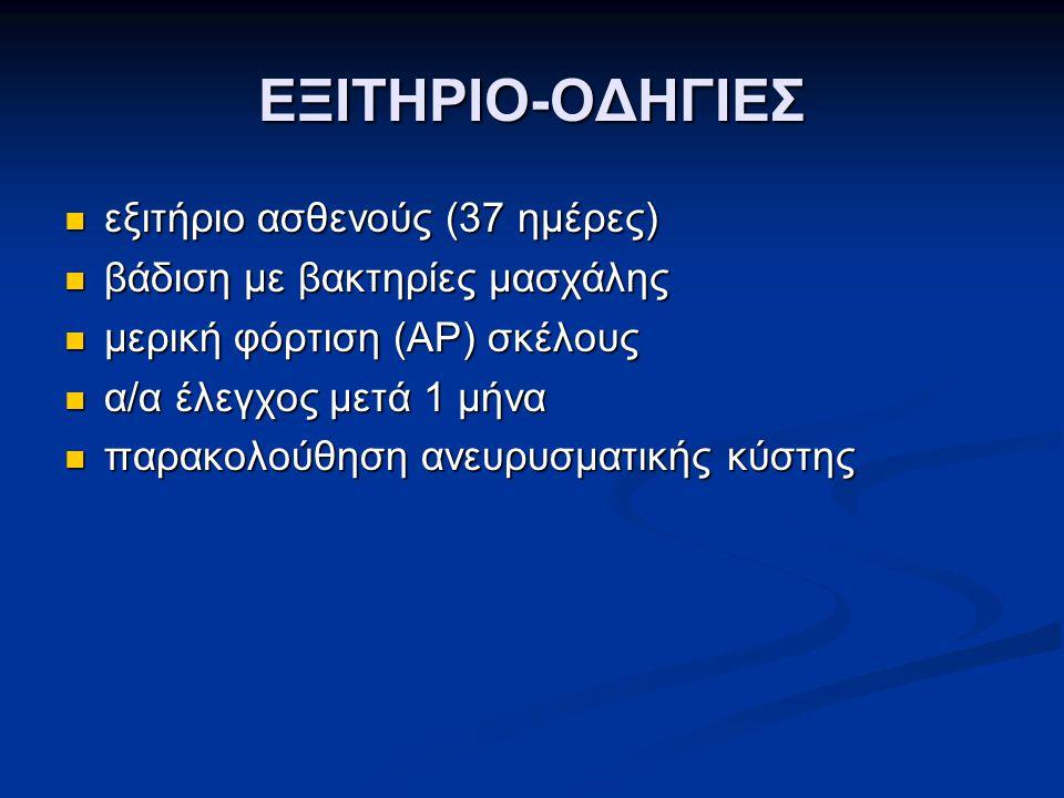ΕΞΙΤΗΡΙΟ-ΟΔΗΓΙΕΣ εξιτήριο ασθενούς (37 ημέρες)
