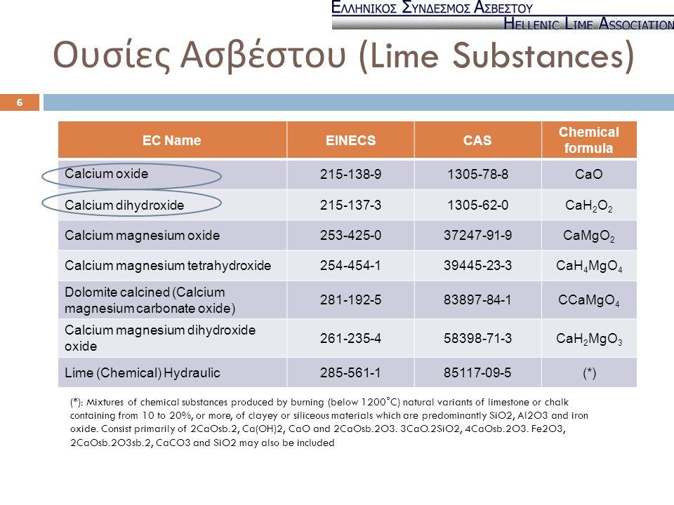 Ουσίες Ασβέστου (Lime Substances)