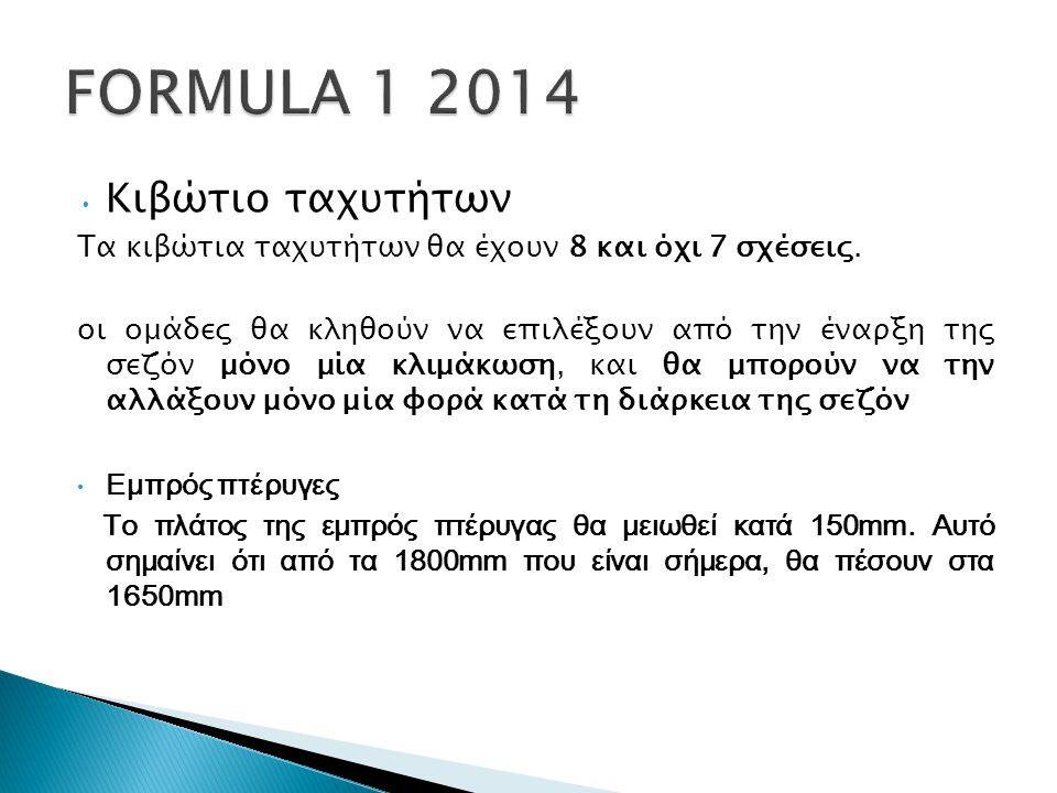 FORMULA 1 2014 Κιβώτιο ταχυτήτων