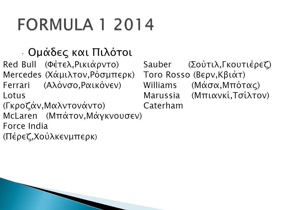 FORMULA 1 2014 Ομάδες και Πιλότοι Red Bull (Φέτελ,Ρικιάρντο)