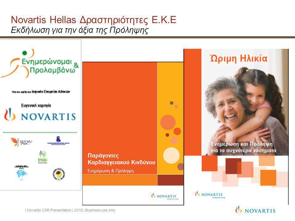 Novartis Hellas Δραστηριότητες Ε. Κ