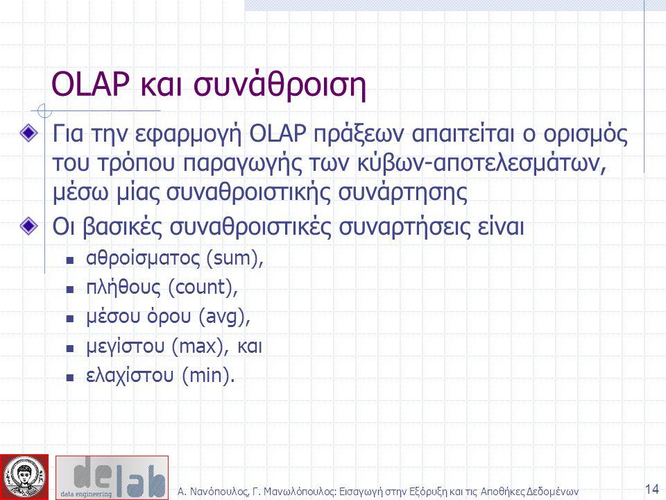 OLAP και συνάθροιση