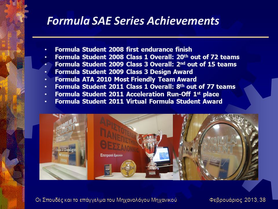 Formula SAE Series Achievements