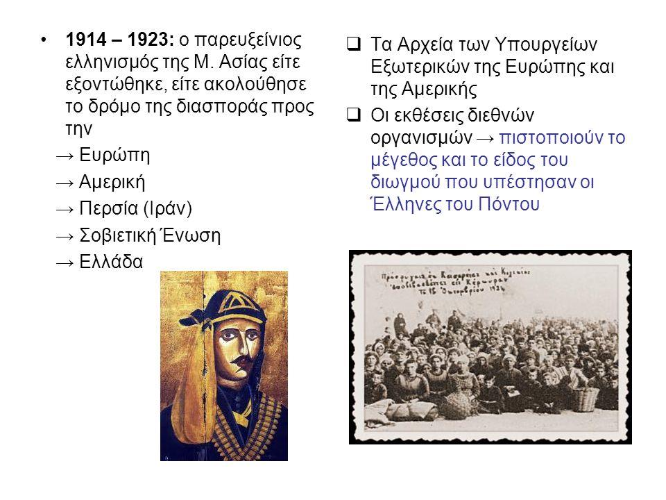 1914 – 1923: ο παρευξείνιος ελληνισμός της Μ