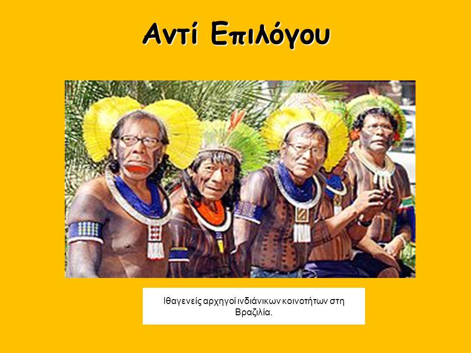 Ιθαγενείς αρχηγοί ινδιάνικων κοινοτήτων στη Βραζιλία.