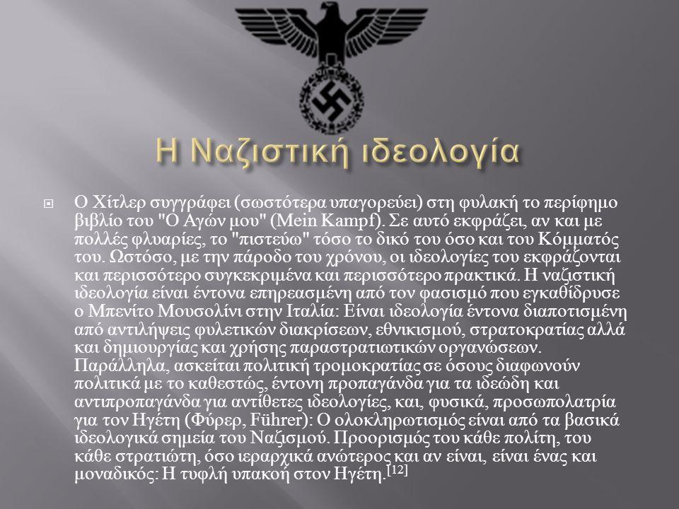 Η Ναζιστική ιδεολογία