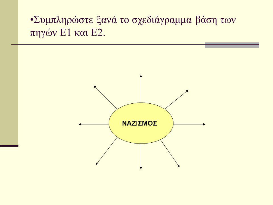 Συμπληρώστε ξανά το σχεδιάγραμμα βάση των πηγών Ε1 και Ε2.