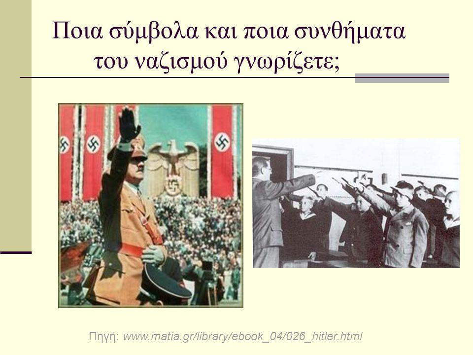 Ποια σύμβολα και ποια συνθήματα του ναζισμού γνωρίζετε;