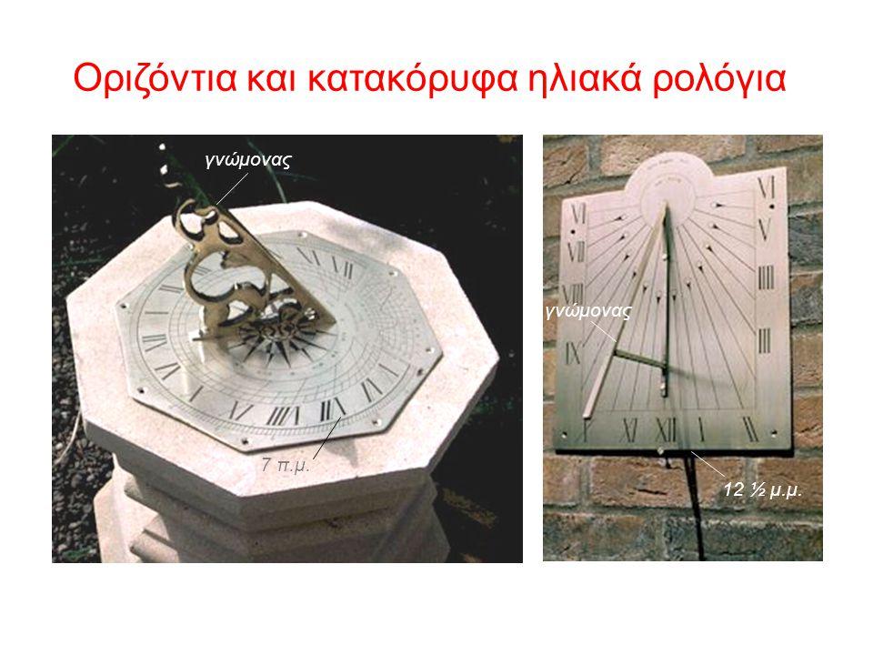 Οριζόντια και κατακόρυφα ηλιακά ρολόγια