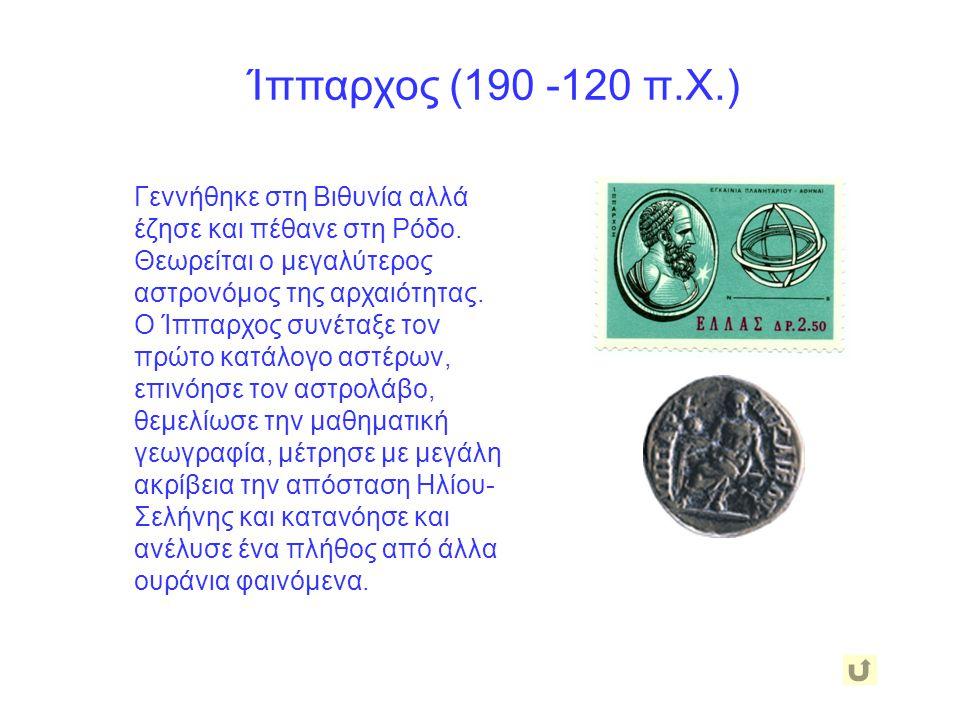 Ίππαρχος (190 -120 π.Χ.)