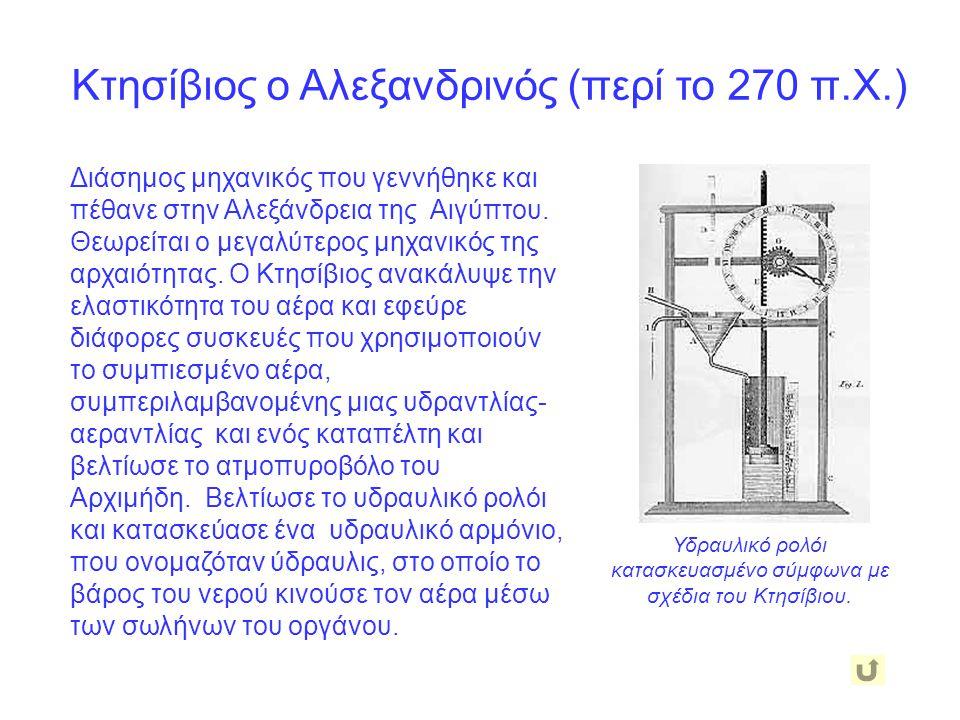 Κτησίβιος ο Αλεξανδρινός (περί το 270 π.Χ.)