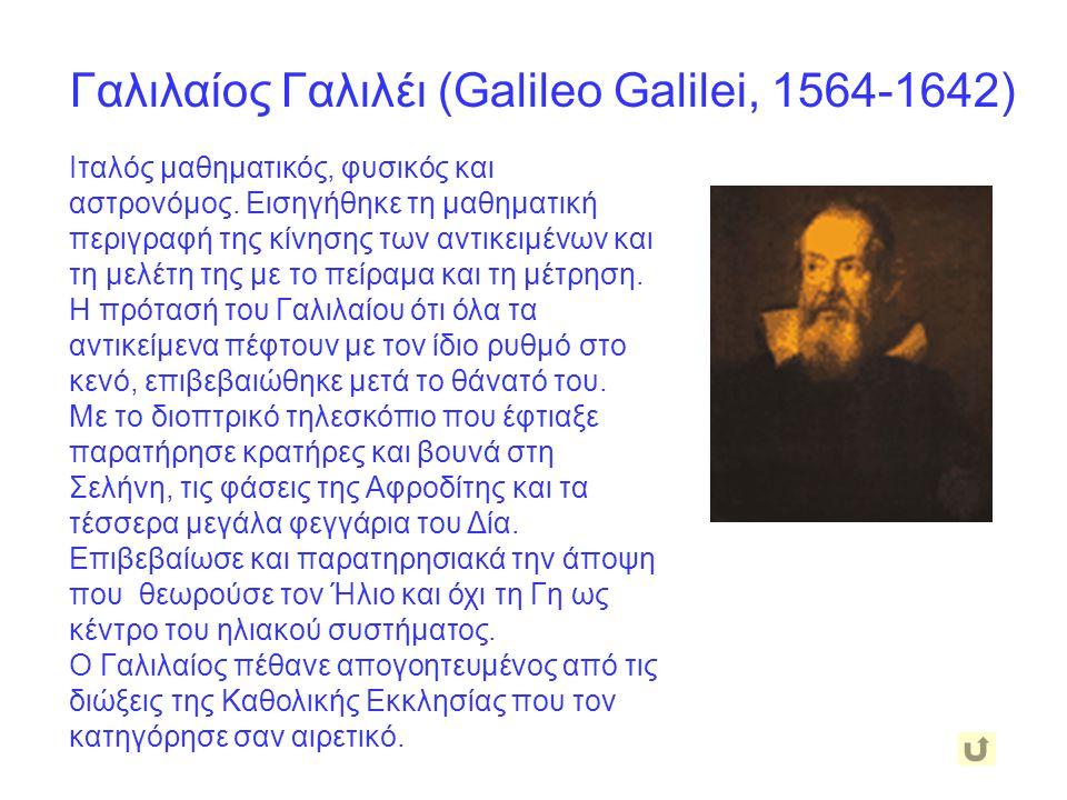 Γαλιλαίος Γαλιλέι (Galileo Galilei, 1564-1642)