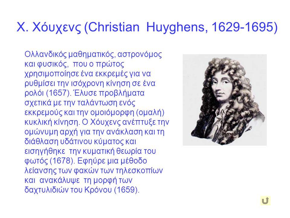 Χ. Χόυχενς (Christian Huyghens, 1629-1695)