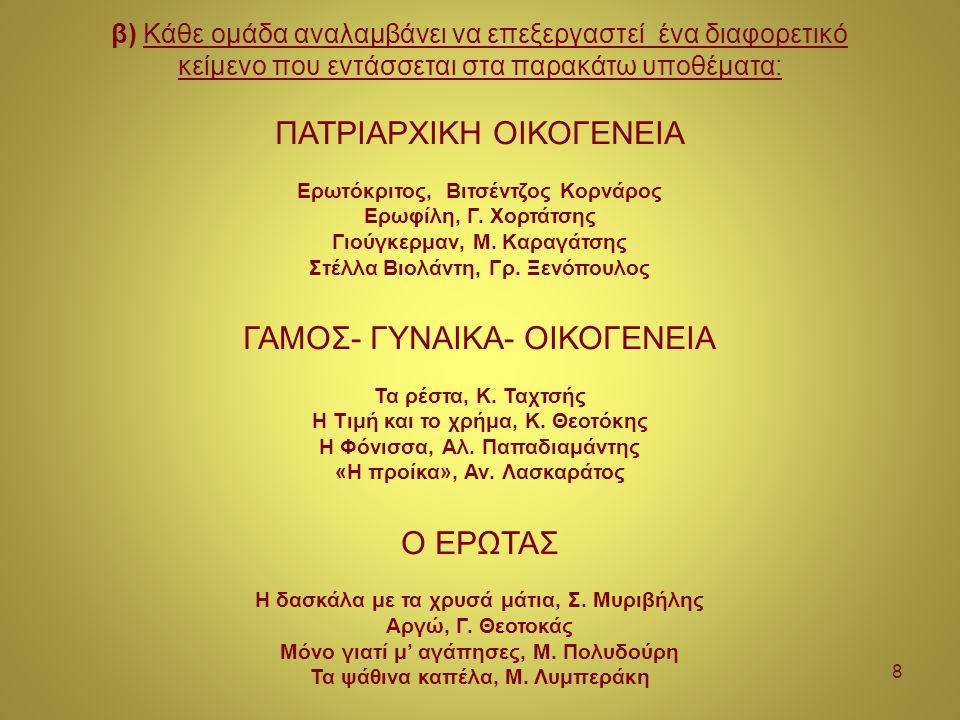 ΠΑΤΡΙΑΡΧΙΚΗ ΟΙΚΟΓΕΝΕΙΑ