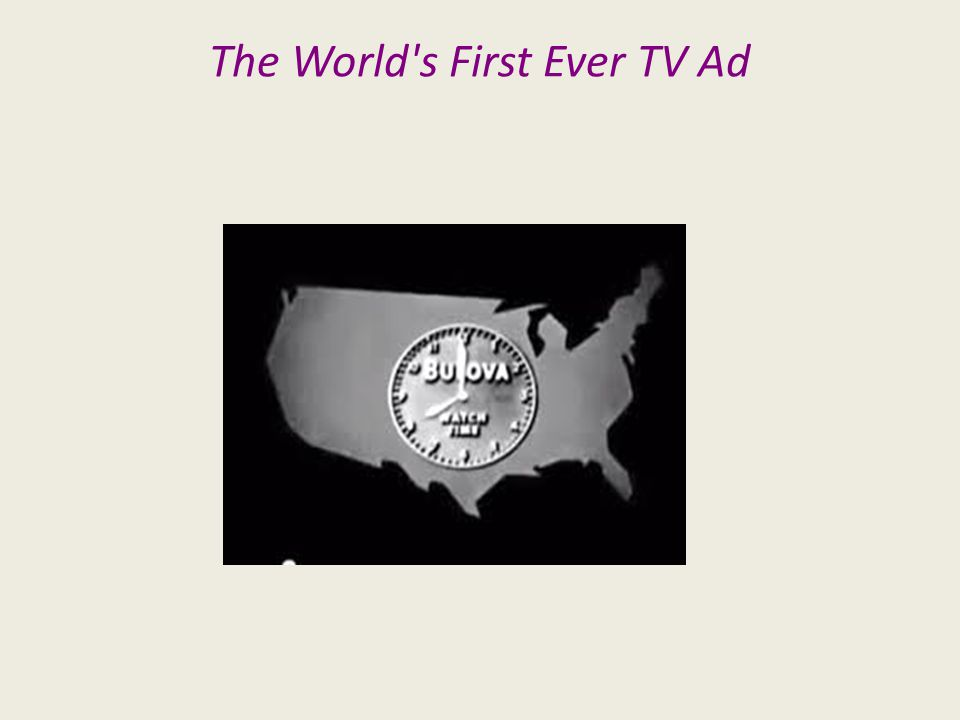 The World s First Ever TV Ad