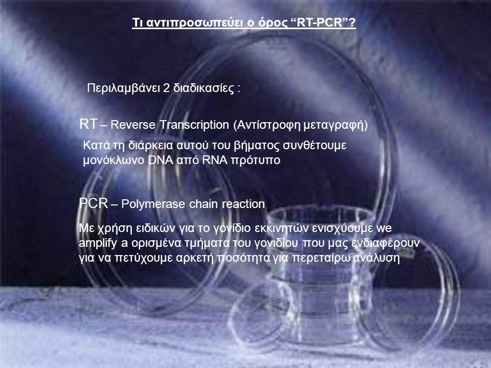 RT – Reverse Transcription (Αντίστροφη μεταγραφή)