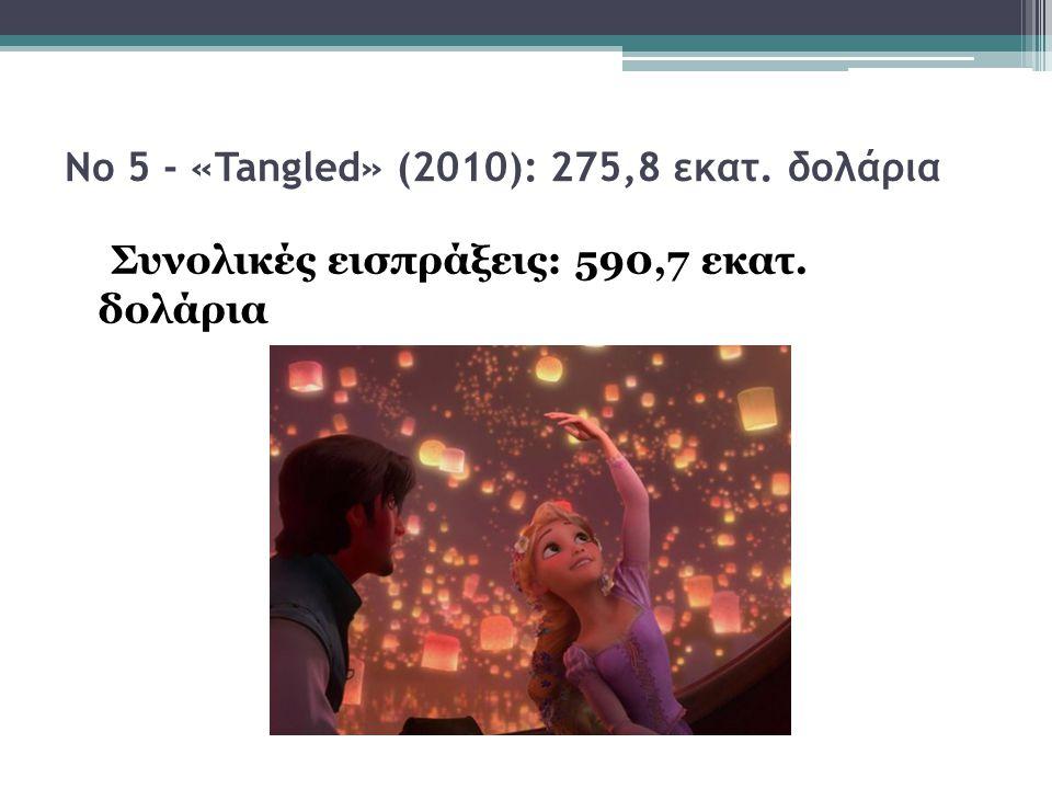 Νο 5 - «Tangled» (2010): 275,8 εκατ. δολάρια