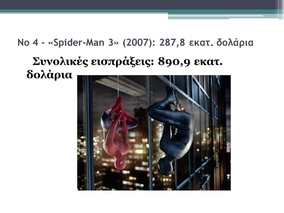Νο 4 - «Spider-Man 3» (2007): 287,8 εκατ. δολάρια