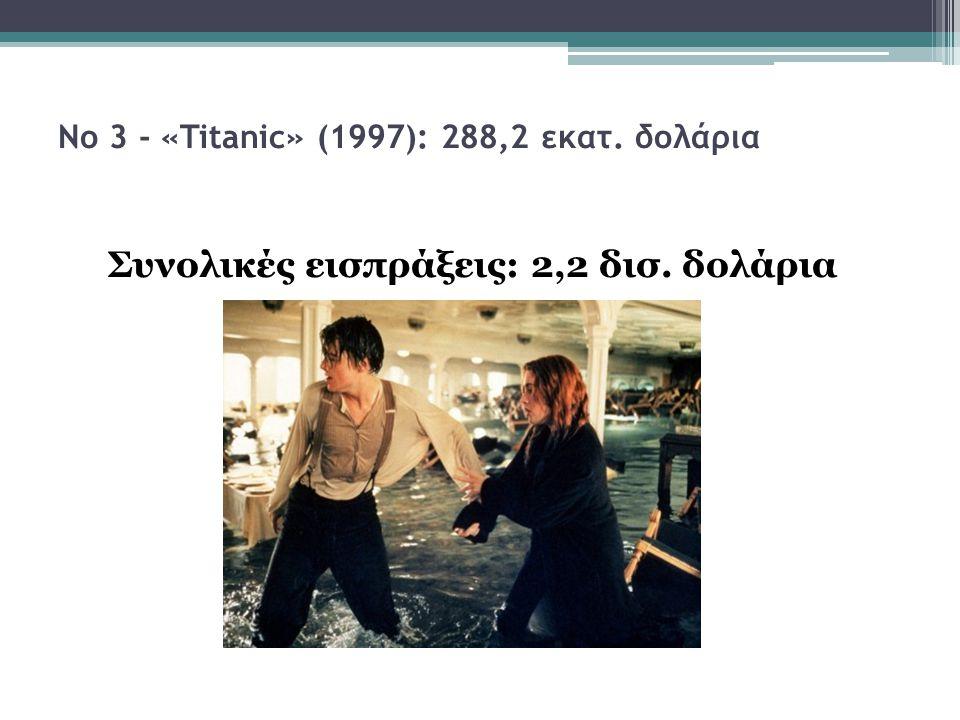 Νο 3 - «Titanic» (1997): 288,2 εκατ. δολάρια