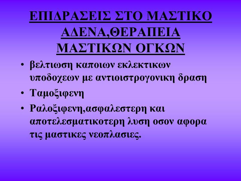 ΕΠΙΔΡΑΣΕΙΣ ΣΤΟ ΜΑΣΤΙΚΟ ΑΔΕΝΑ,ΘΕΡΑΠΕΙΑ ΜΑΣΤΙΚΩΝ ΟΓΚΩΝ