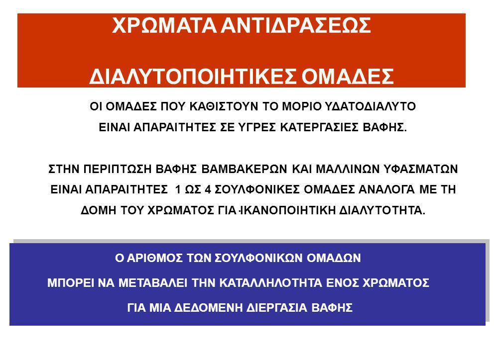 ΔΙΑΛΥΤΟΠΟΙΗΤΙΚΕΣ ΟΜΑΔΕΣ