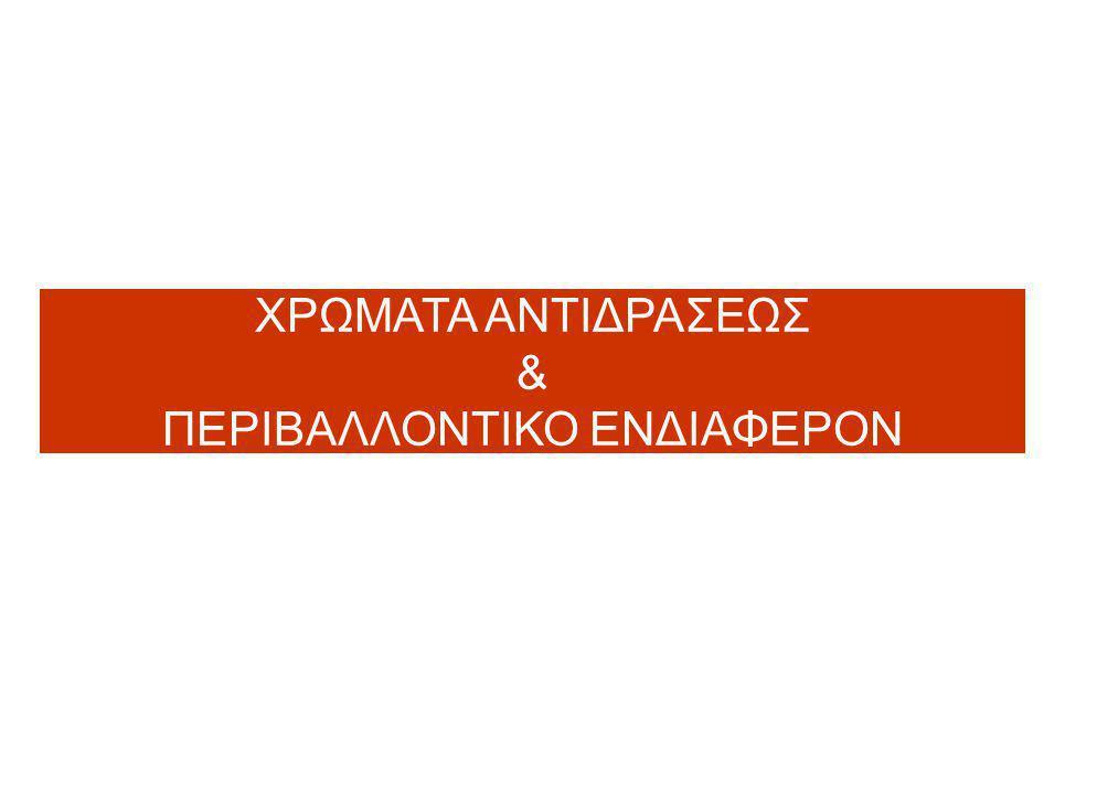 ΧΡΩΜΑΤΑ ΑΝΤΙΔΡΑΣΕΩΣ & ΠΕΡΙΒΑΛΛΟΝΤΙΚΟ ΕΝΔΙΑΦΕΡΟΝ