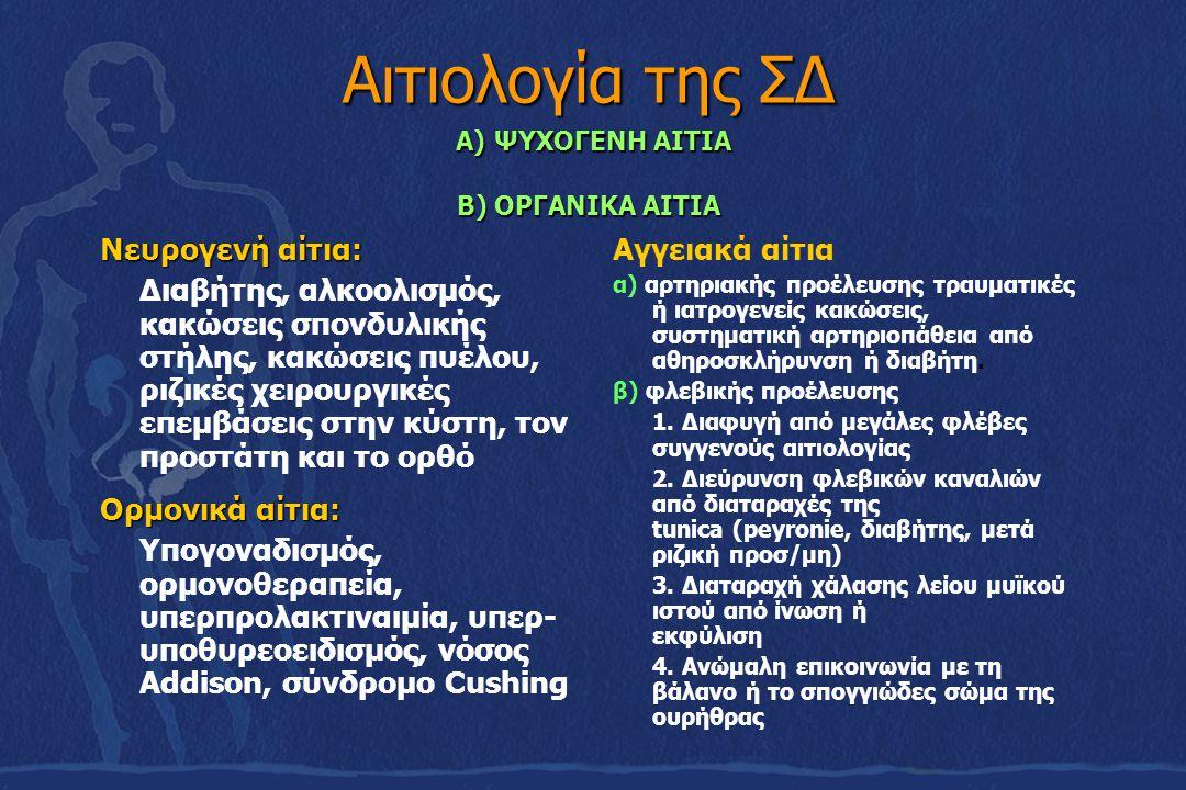 Αιτιολογία της ΣΔ Α) ΨΥΧΟΓΕΝΗ ΑΙΤΙΑ Β) ΟΡΓΑΝΙΚΑ ΑΙΤΙΑ