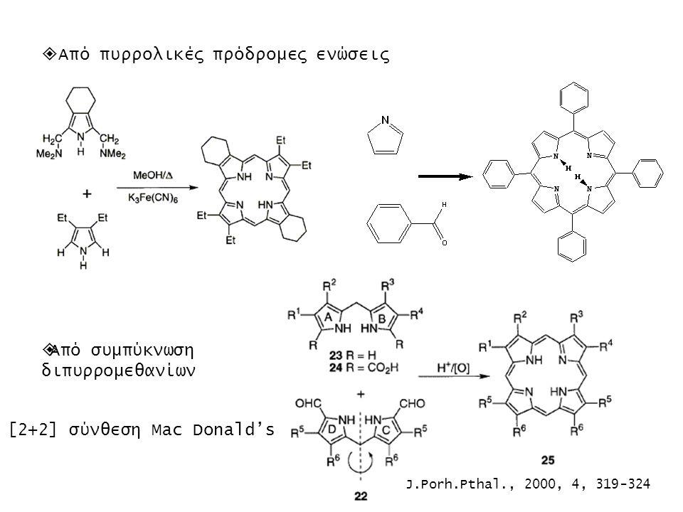 Από πυρρολικές πρόδρομες ενώσεις