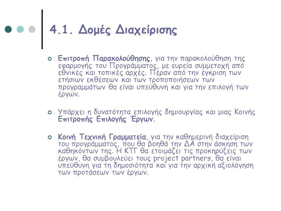 4.1. Δομές Διαχείρισης