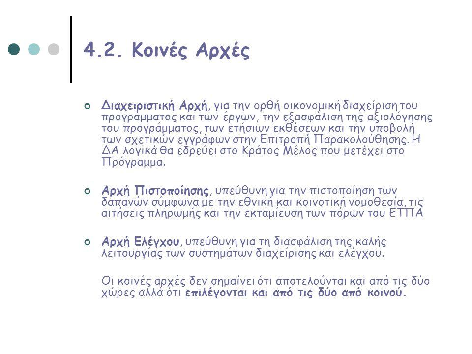 4.2. Κοινές Αρχές