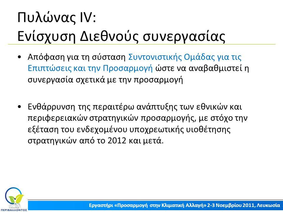 Πυλώνας ΙV: Ενίσχυση Διεθνούς συνεργασίας