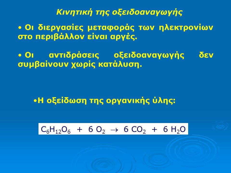 Κινητική της οξειδοαναγωγής