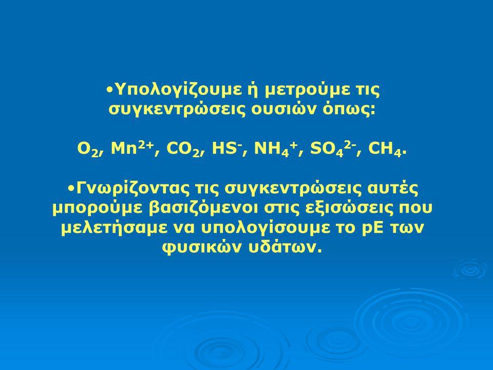Υπολογίζουμε ή μετρούμε τις συγκεντρώσεις ουσιών όπως: