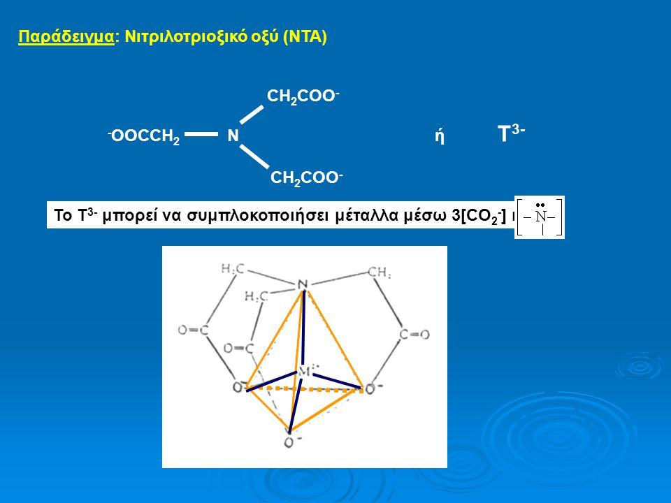 Παράδειγμα: Νιτριλοτριοξικό οξύ (NTA)