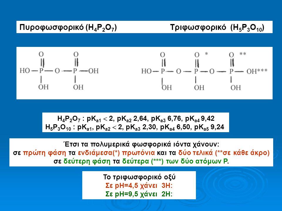 Πυροφωσφορικό (H4P2O7) Τριφωσφορικό (H5P3O10)