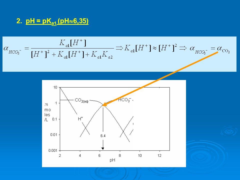 2. pH = pΚa1 (pH6,35)
