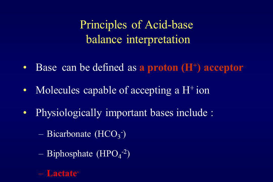 Principles of Acid-base balance interpretation